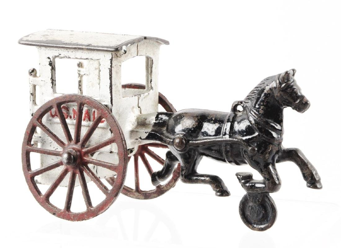 Lot of 2: Cast Iron Horse-Drawn Wagons. - 2