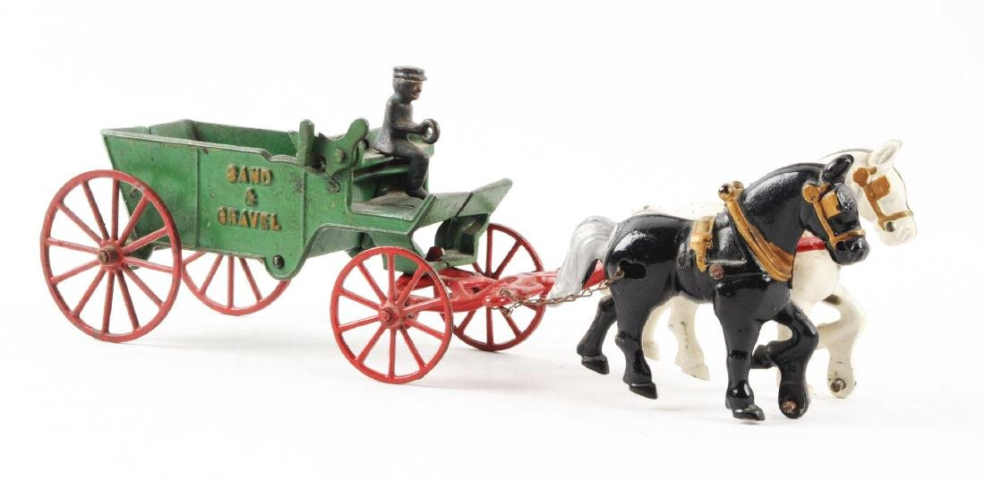 Lot of 2: Cast Iron Horse-Drawn Wagons. - 3