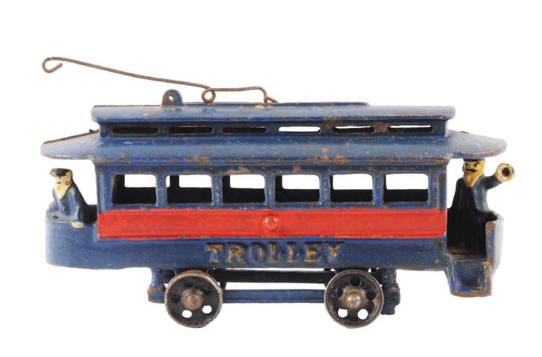 Cast Iron Trolley Car.