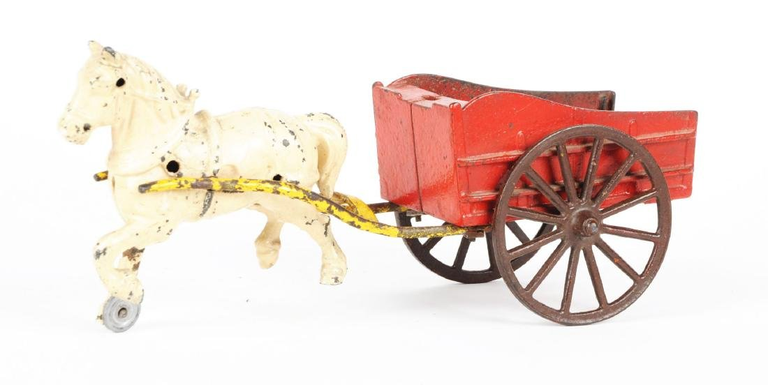 Cast Iron Horse Drawn Wagon. - 2