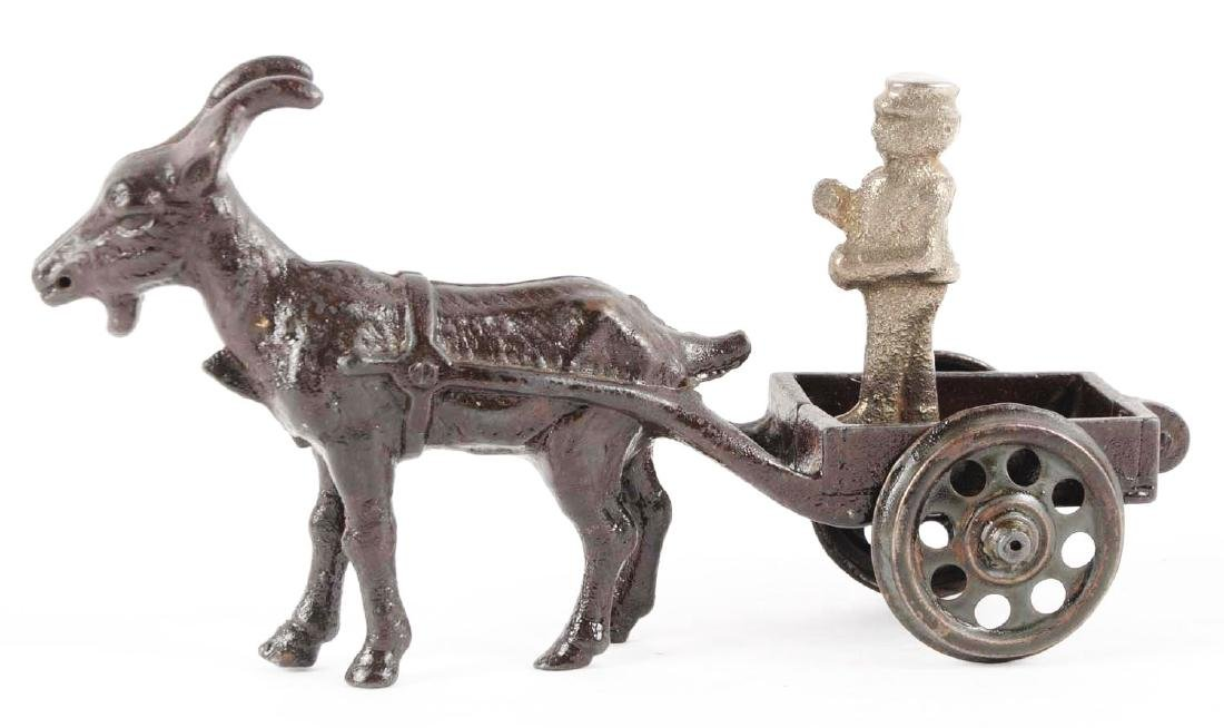Cast Iron Goat Drawn Cart. - 2