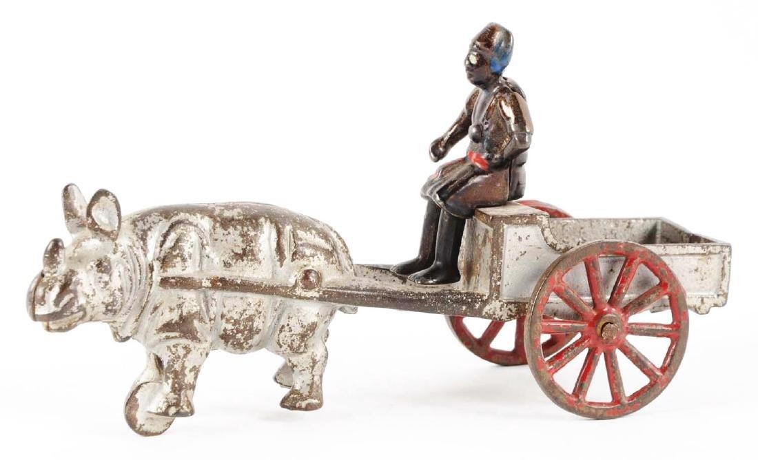 Kenton Cast Iron Rhino Wagon. - 2