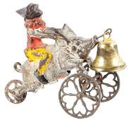Cast Iron Clown On Pig Cast Iron Bell Toy