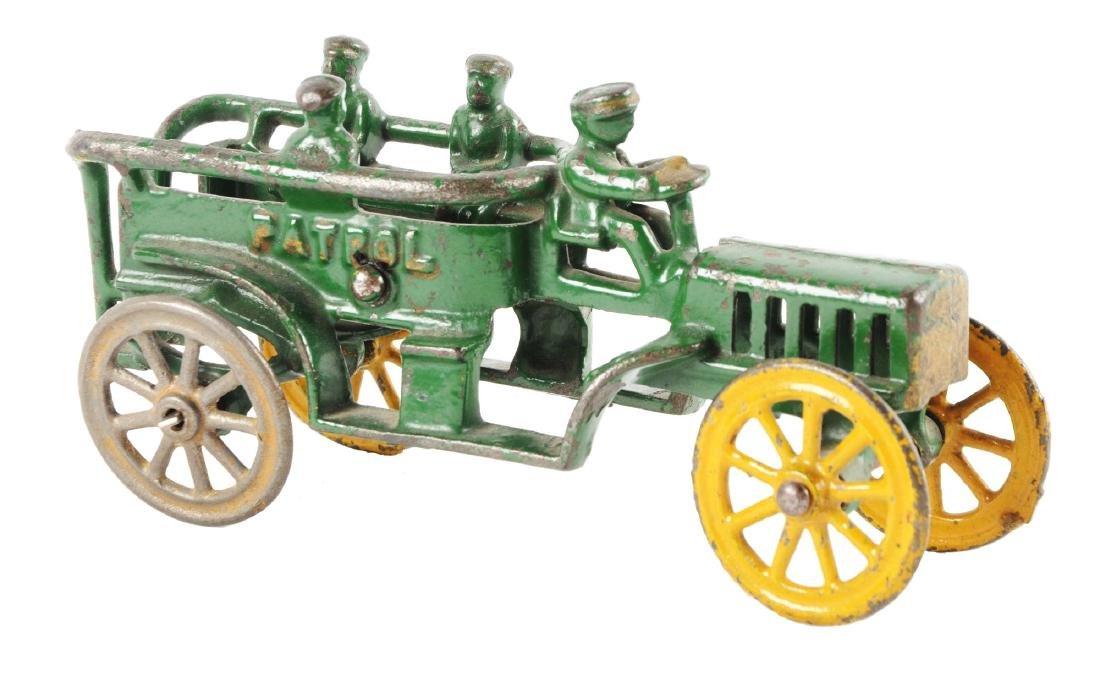Cast Iron Green Patrol Wagon.