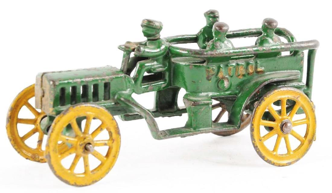 Cast Iron Green Patrol Wagon. - 2