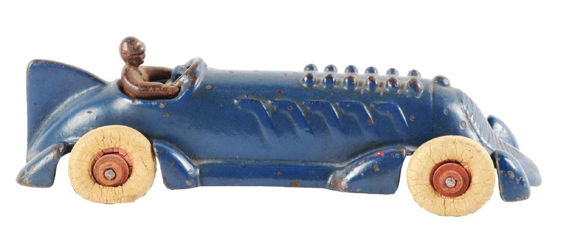 Champion Cast Iron Blue Race Car.