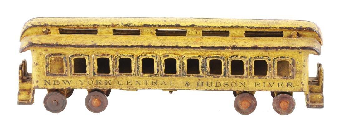 Extra Large Cast Iron NYC Yellow Passenger Car.