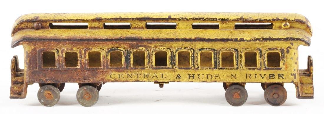 Extra Large Cast Iron NYC Yellow Passenger Car. - 2