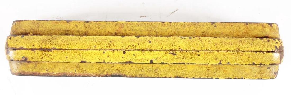 Extra Large Cast Iron NYC Yellow Passenger Car. - 3