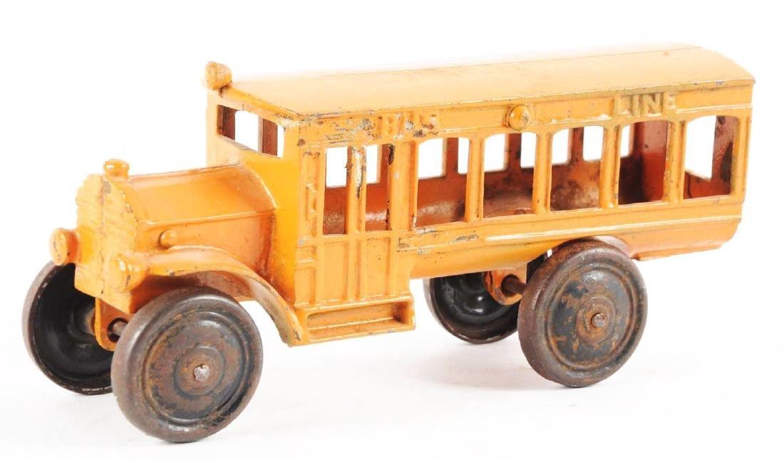Orange Cast Iron Bus Line. - 2