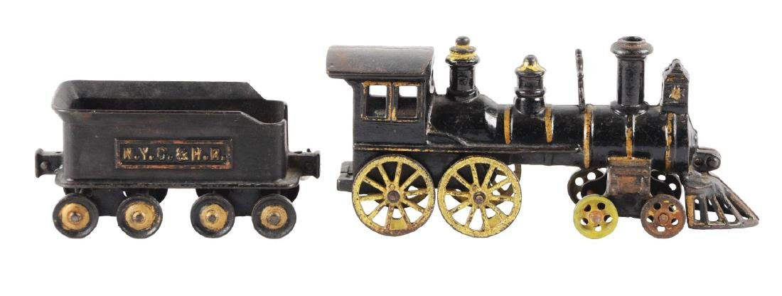 Lot Of 2: Extra Large Carpenter Cast Iron Locomotive &