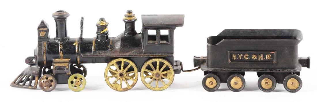 Lot Of 2: Extra Large Carpenter Cast Iron Locomotive & - 2