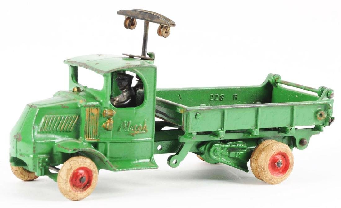 "Arcade Cast Iron ""T"" Mack Dump Truck. - 2"
