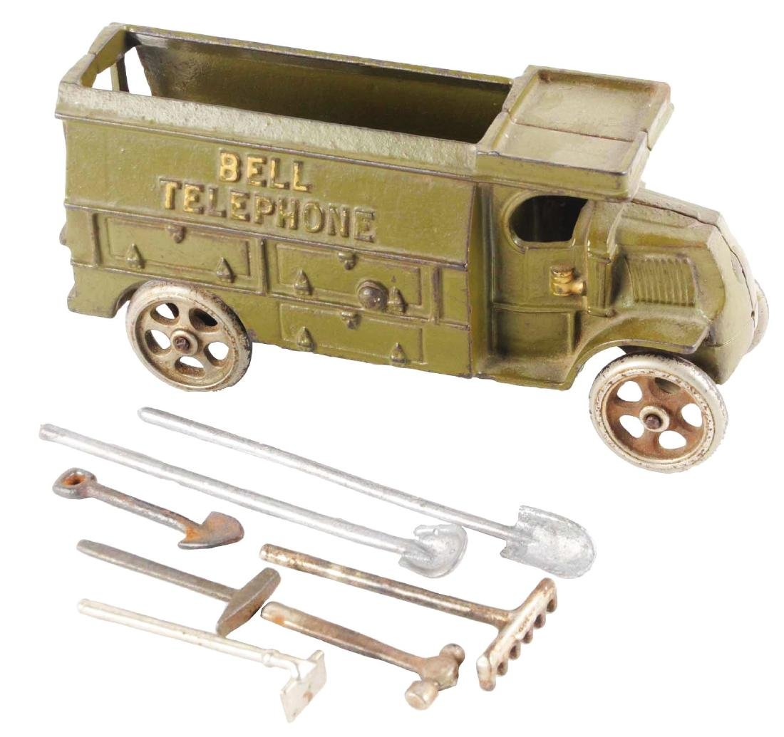 Hubley Cast Iron Bell Telephone Truck.