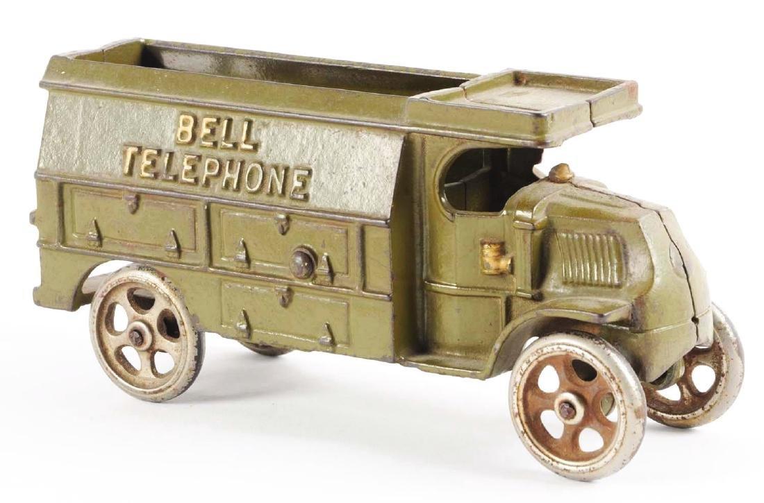 Hubley Cast Iron Bell Telephone Truck. - 2