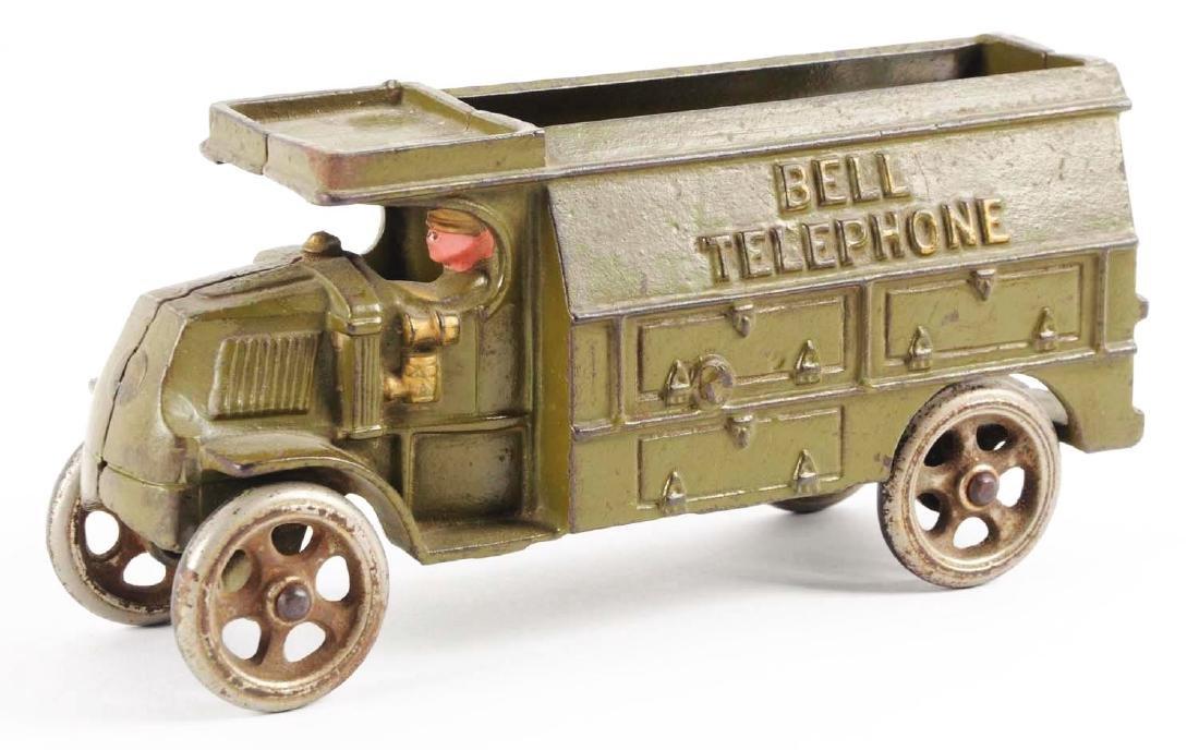 Hubley Cast Iron Bell Telephone Truck. - 3