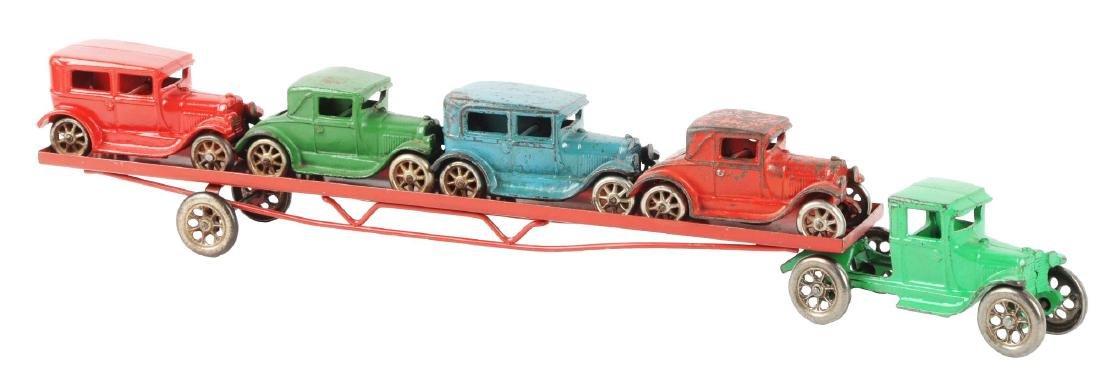 Arcade Cast Iron Car Hauler.