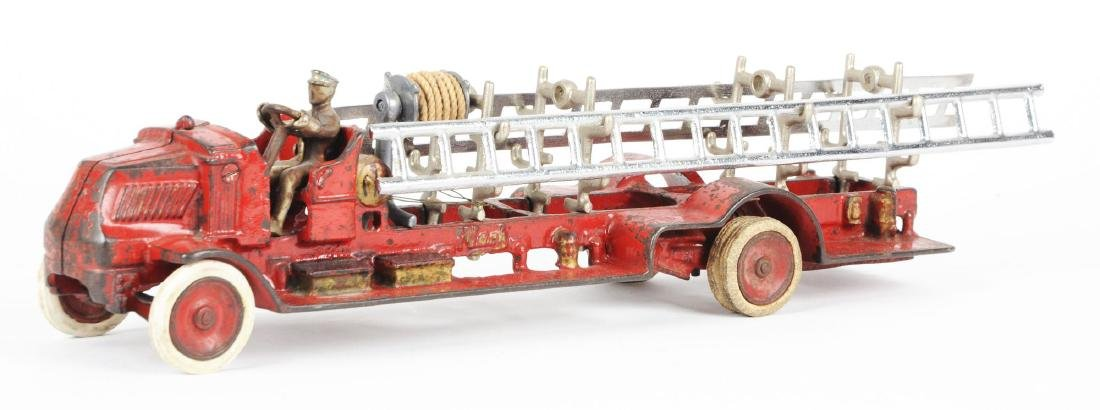 Large Arcade Cast Iron Mack Fire Truck. - 2