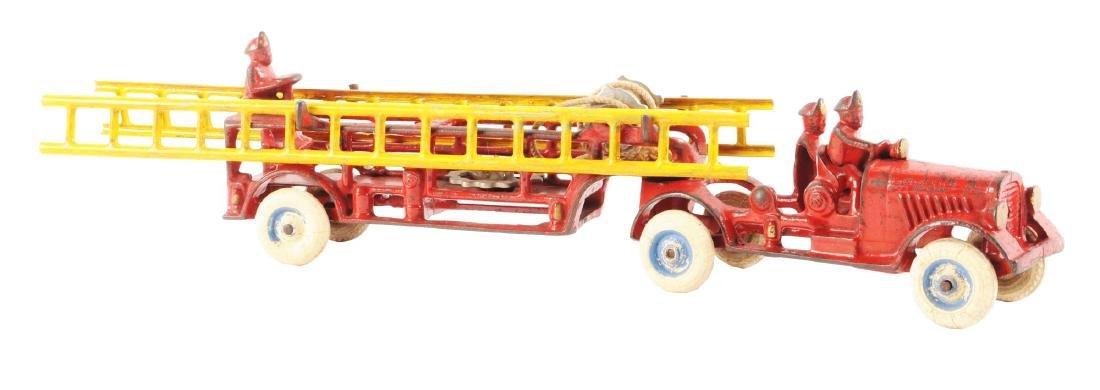 Arcade Cast Iron Tandem Ladder Truck.