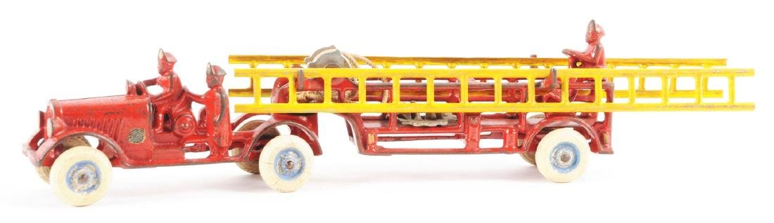 Arcade Cast Iron Tandem Ladder Truck. - 2