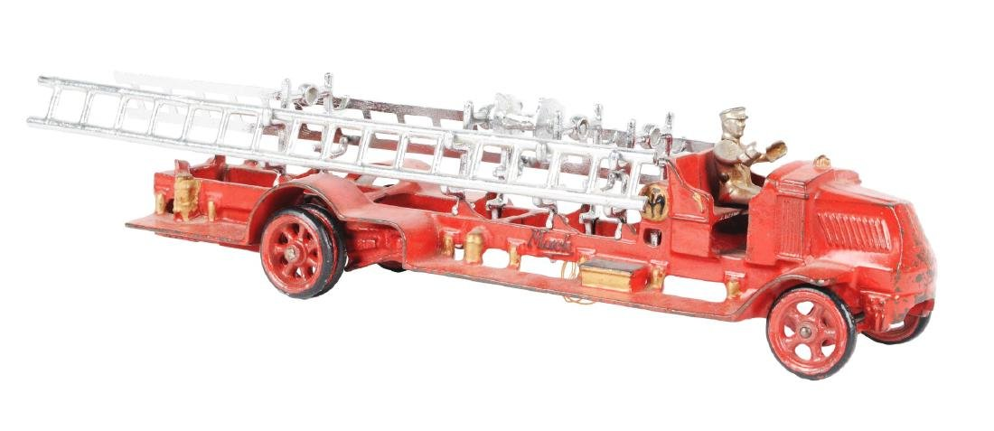 Large Arcade Cast Iron Mack Fire Truck.