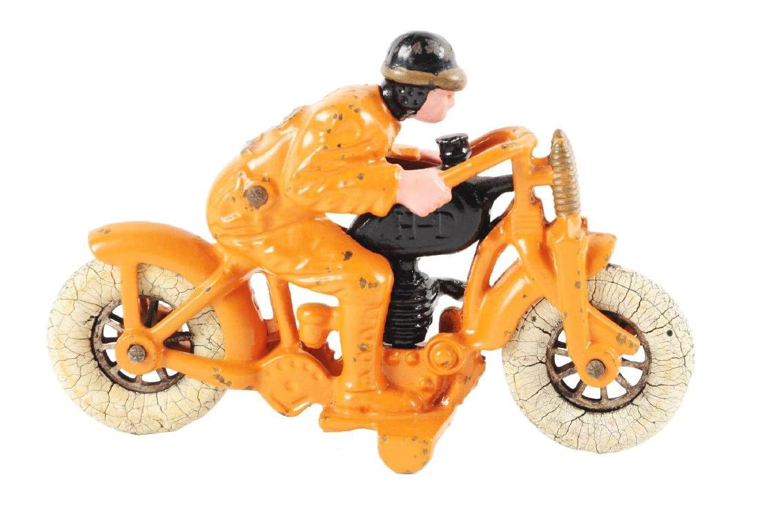 Hubley Cast Iron Hillclimber Motorcycle.