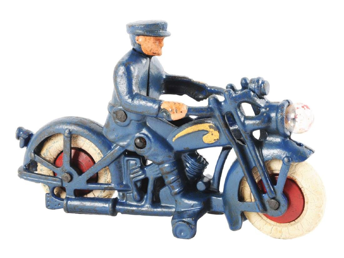 Cast Iron Hubley Motorcycle Cop.
