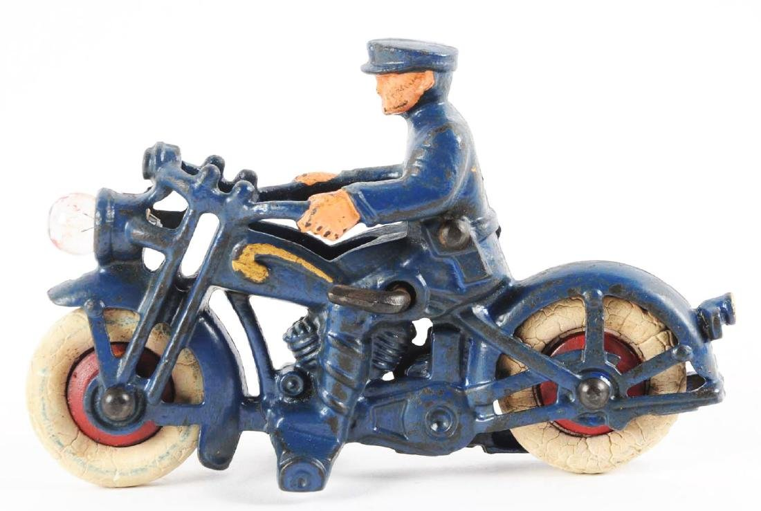 Cast Iron Hubley Motorcycle Cop. - 2