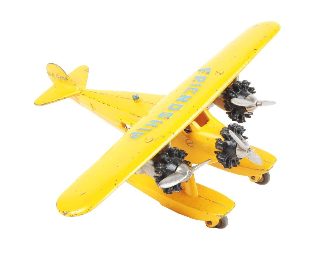 Hubley Friendship Cast Iron Tri Motor Sea Plane.