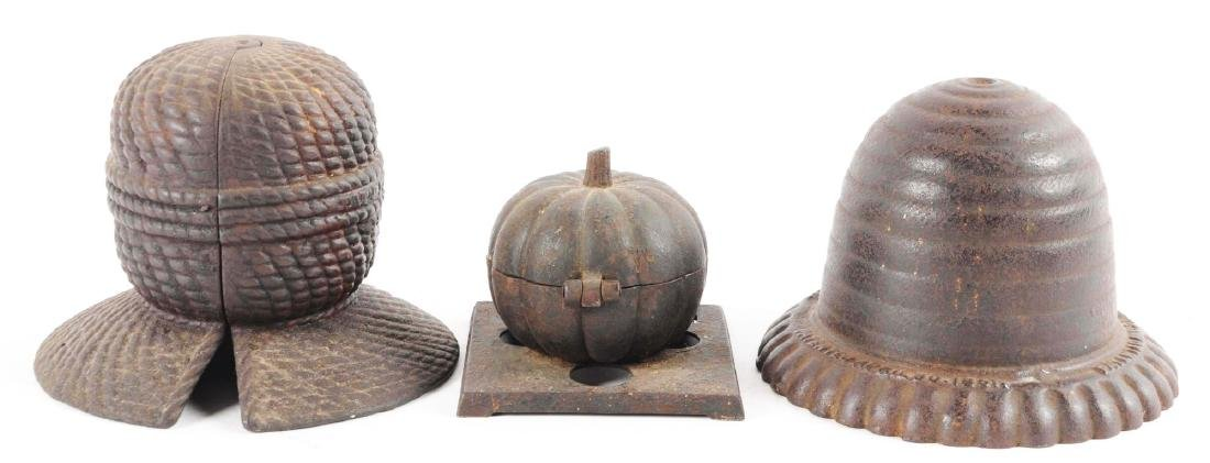 Lot of 3: Cast Iron String Holders. - 2