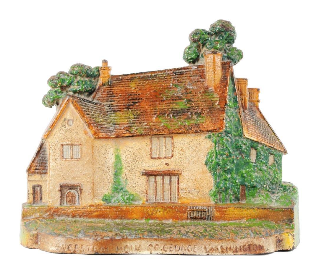Cast Iron Sulgrave Manor House Doorstop.