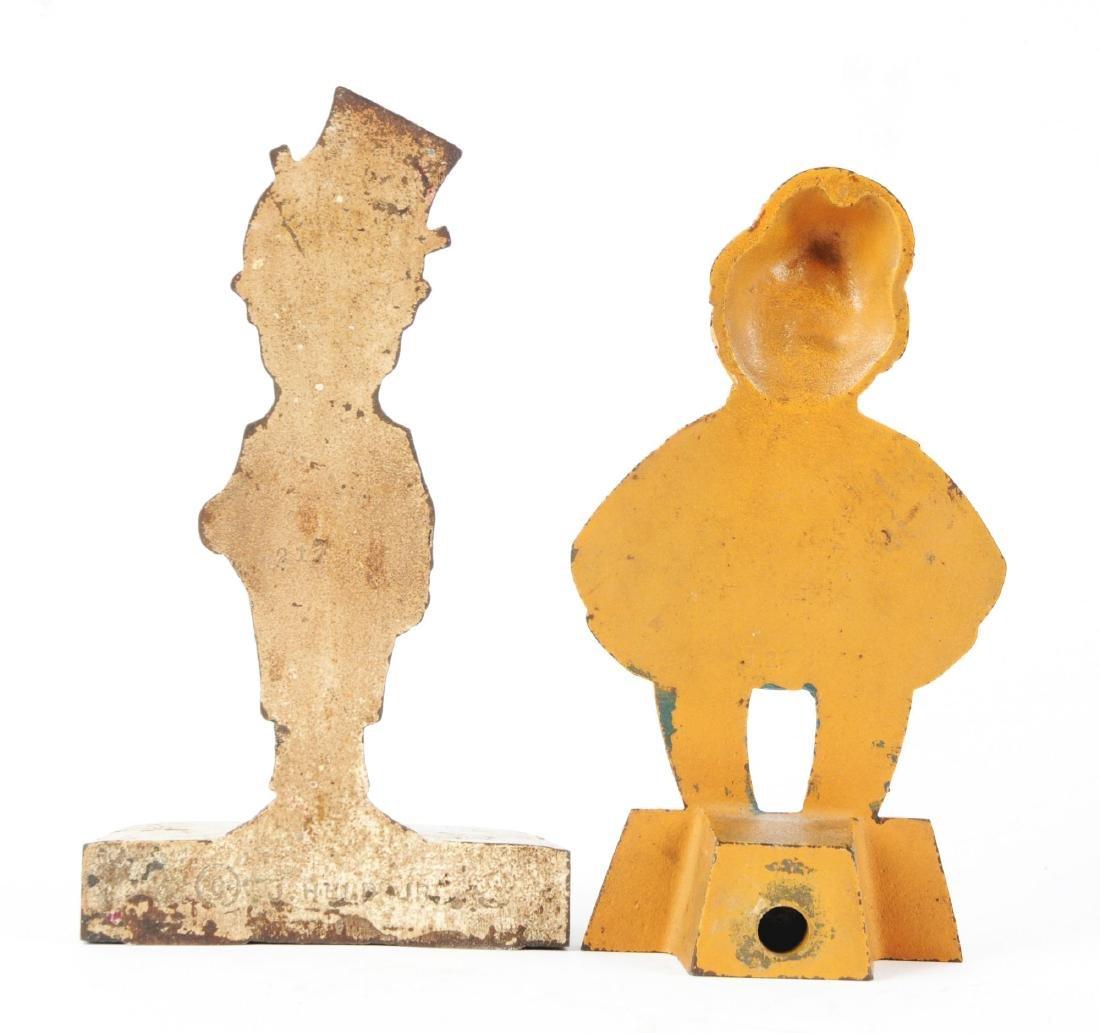 Lot of 2: Cast Iron Assorted Figure Doorstops. - 2