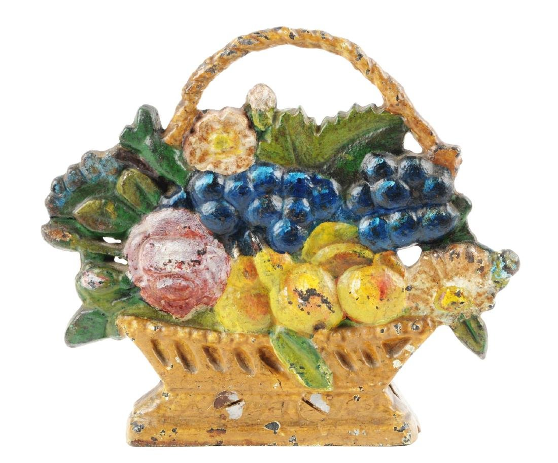 Cast Iron Fruit Basket Doorstop.