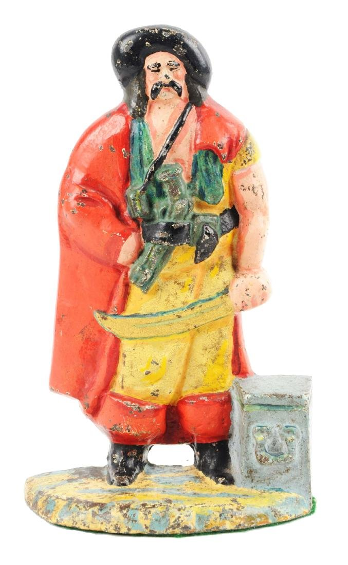 Cast Iron Pirate by Treasure Chest Doorstop.