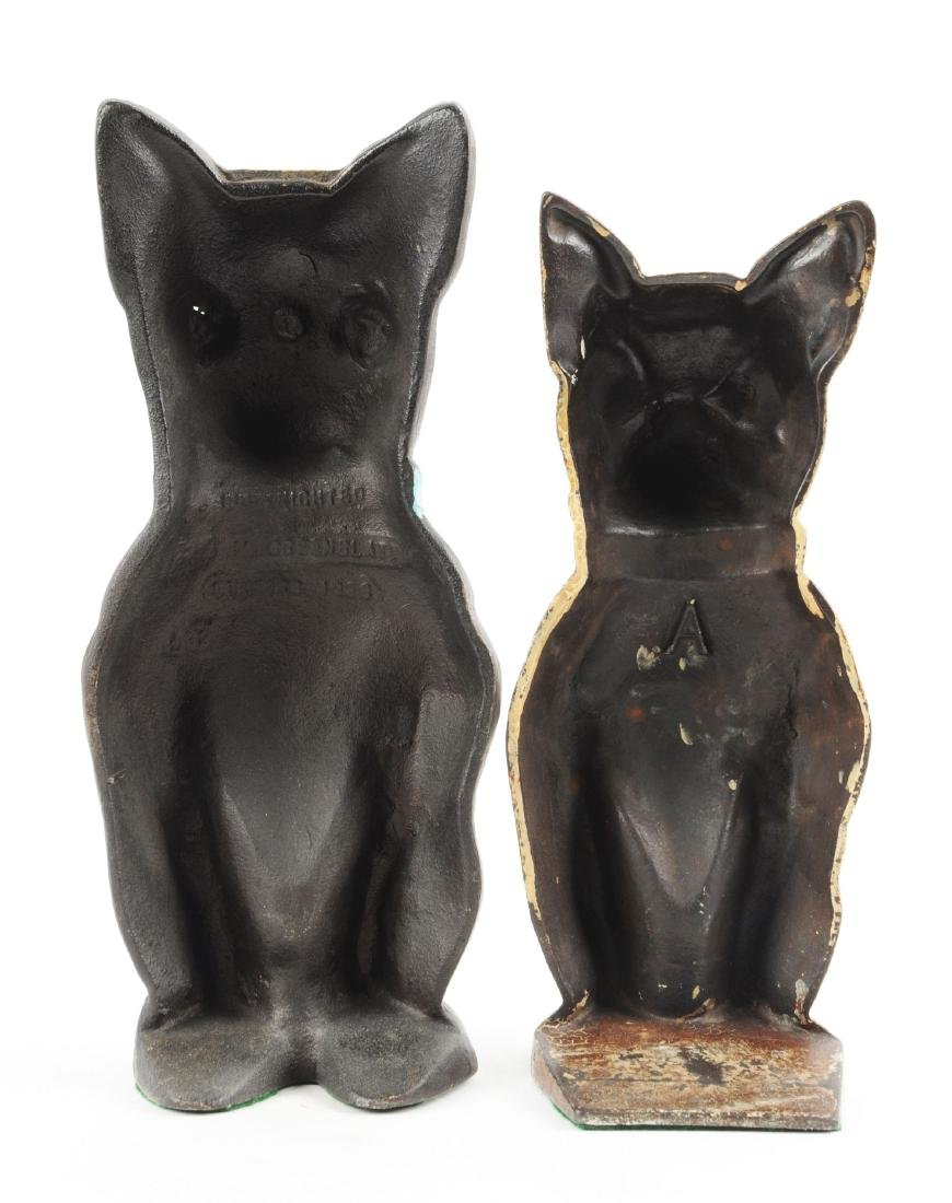 Lot of 2: Cast Iron Assorted Boston Terrier Dog - 2