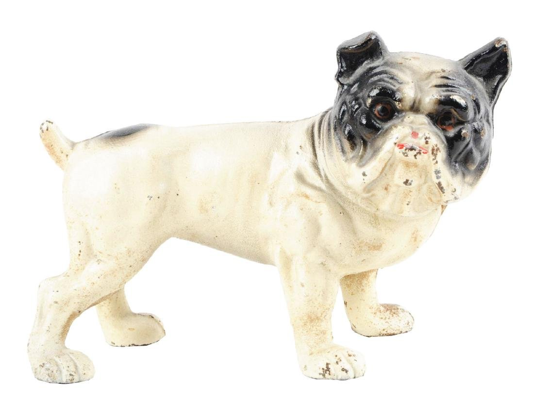 Vintage original hubley fox terrier 381 full figured large art statue - Iron English Bulldog Doorstop