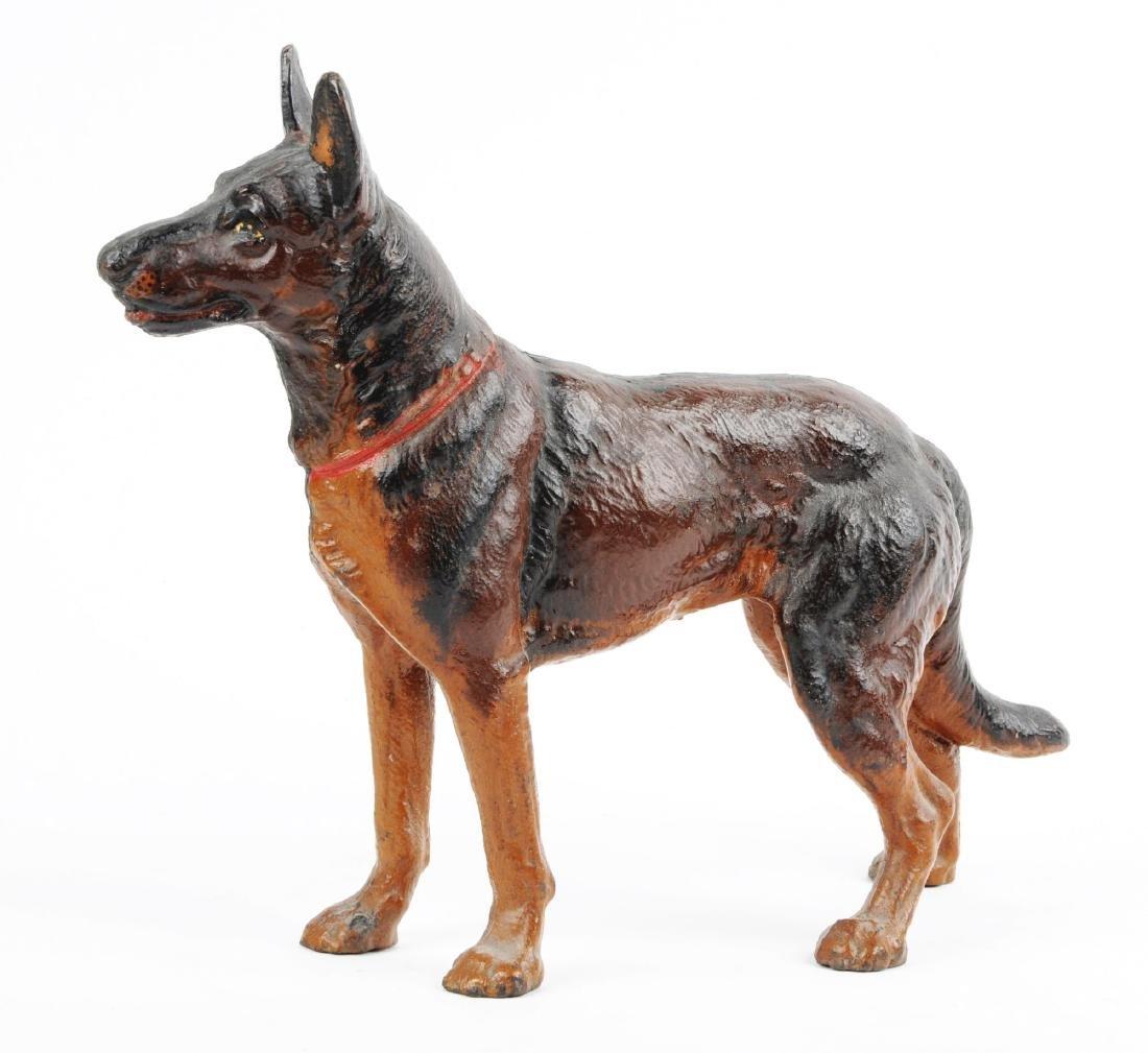 Cast Iron German Shepherd Dog Doorstop. - 2