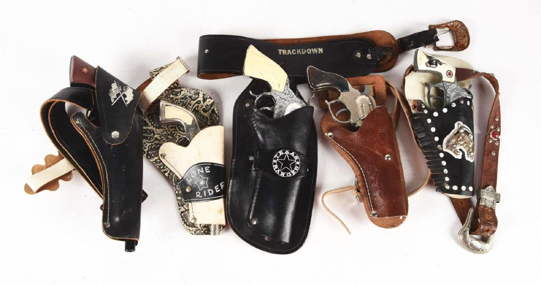 Lot of 5: Pistols & Holsters.