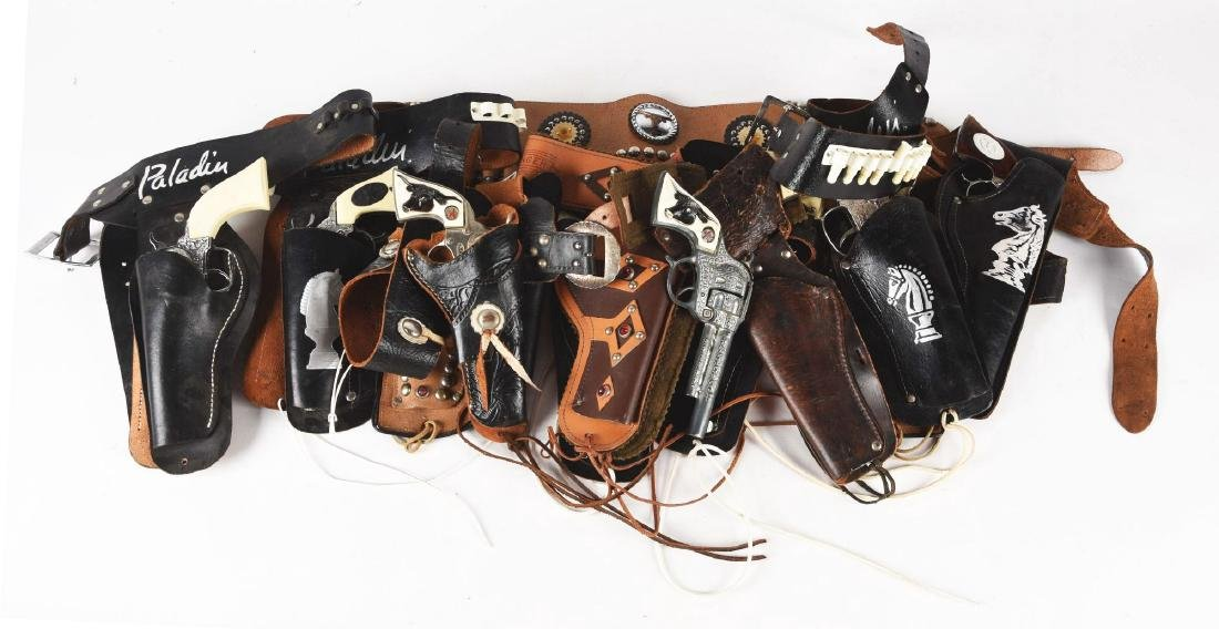 Assorted Lot of Pistols with Holsters.