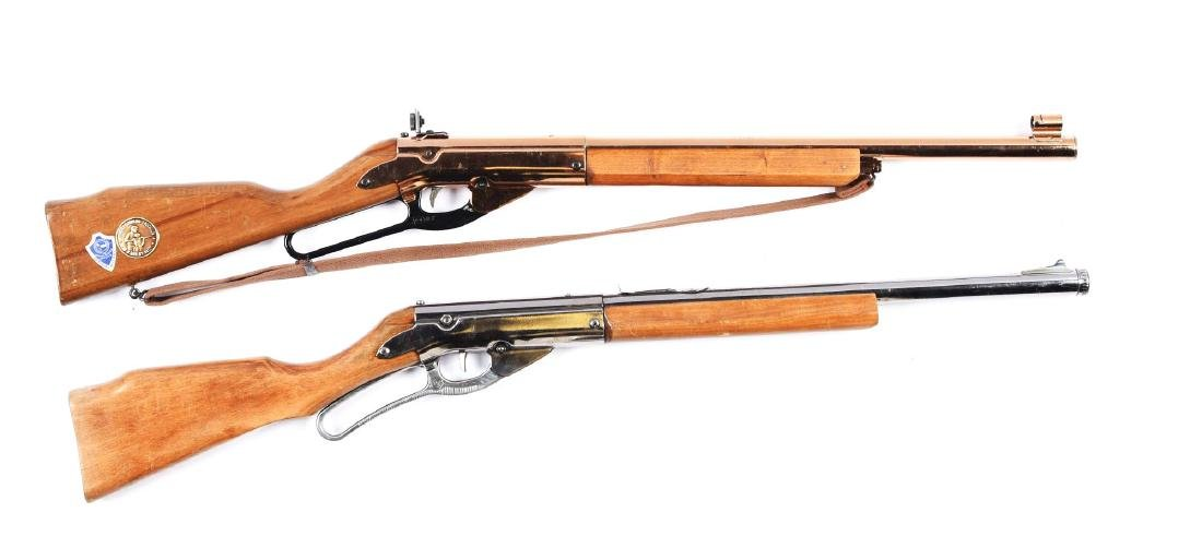 Lot of 2 Daisy Lever Action Air Rifles.