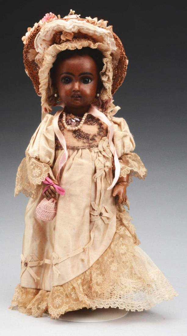 """13"""" 1907 Brown Bisque Jumeau Child."""