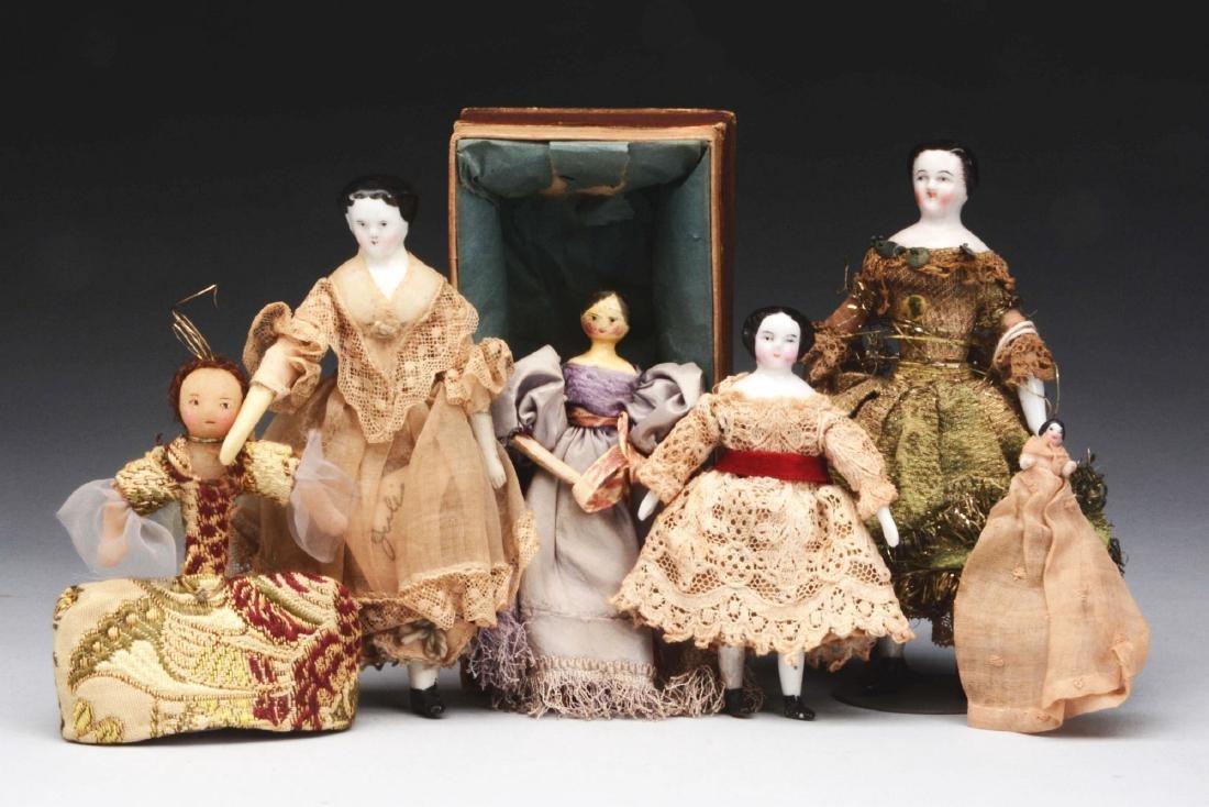 Lot of 6: Fine Early Dolls.