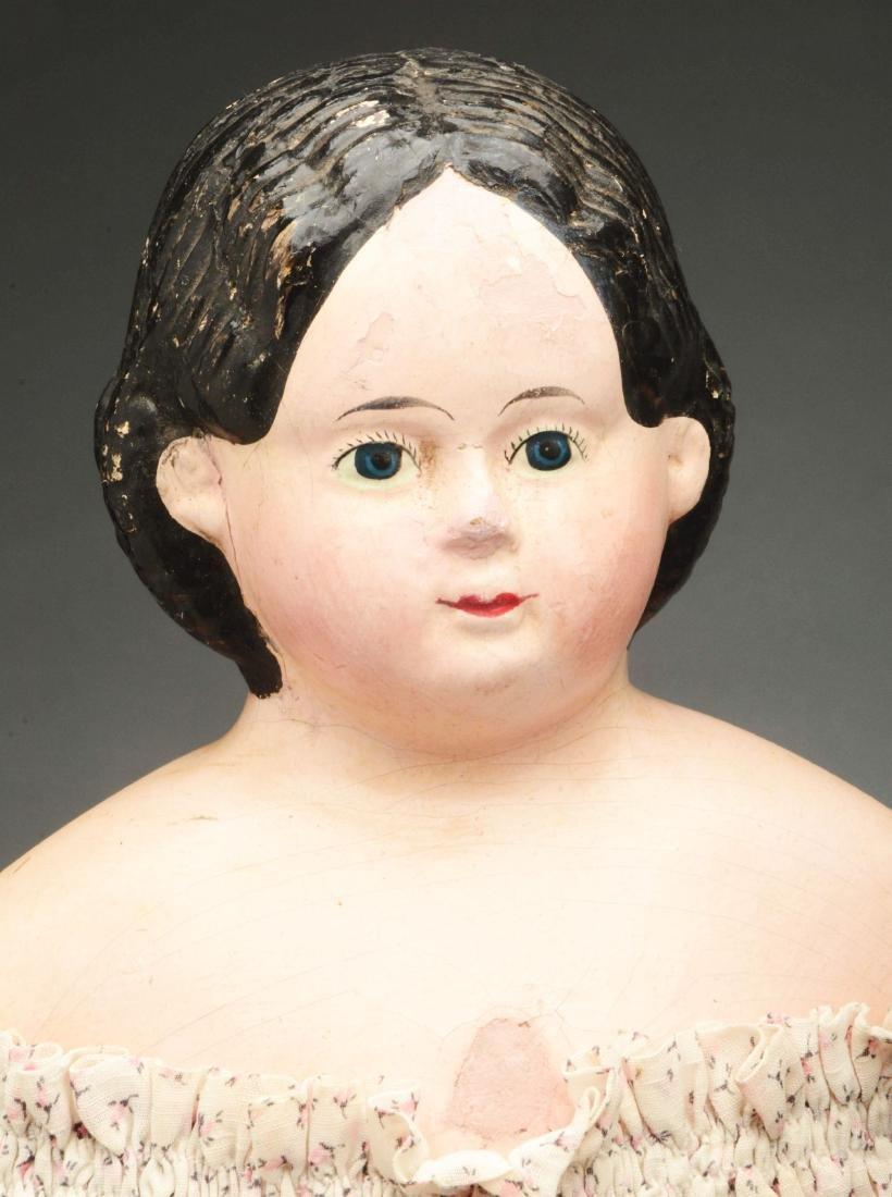 Lot of 3: Mid-19th Century Papier Mache Shoulder Head - 2