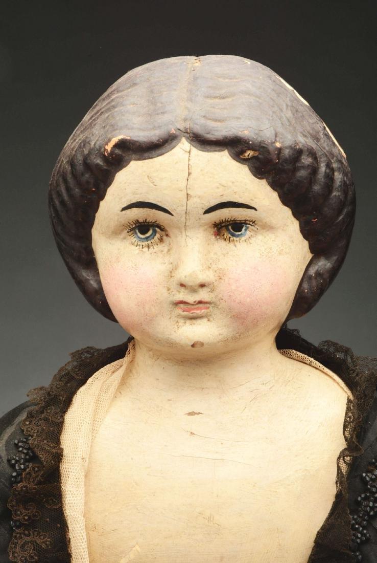 Lot of 3: Mid-19th Century Papier Mache Shoulder Head - 3