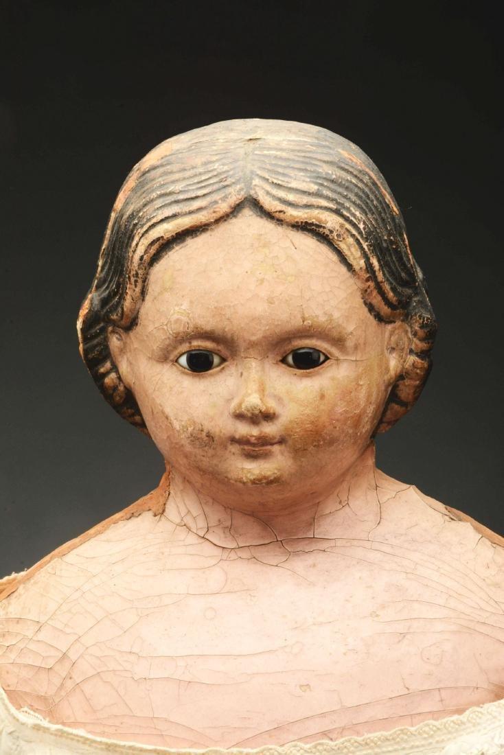Lot of 3: Mid-19th Century Papier Mache Shoulder Head - 4