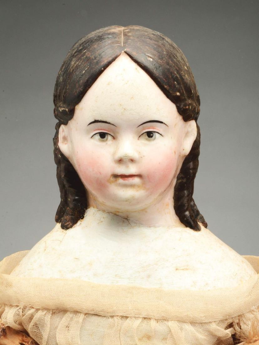 Lot of 2: Mid-19th Century China Head Dolls. - 2