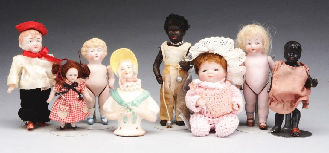Lot of Assorted All Bisque Dolls & Half Dolls.