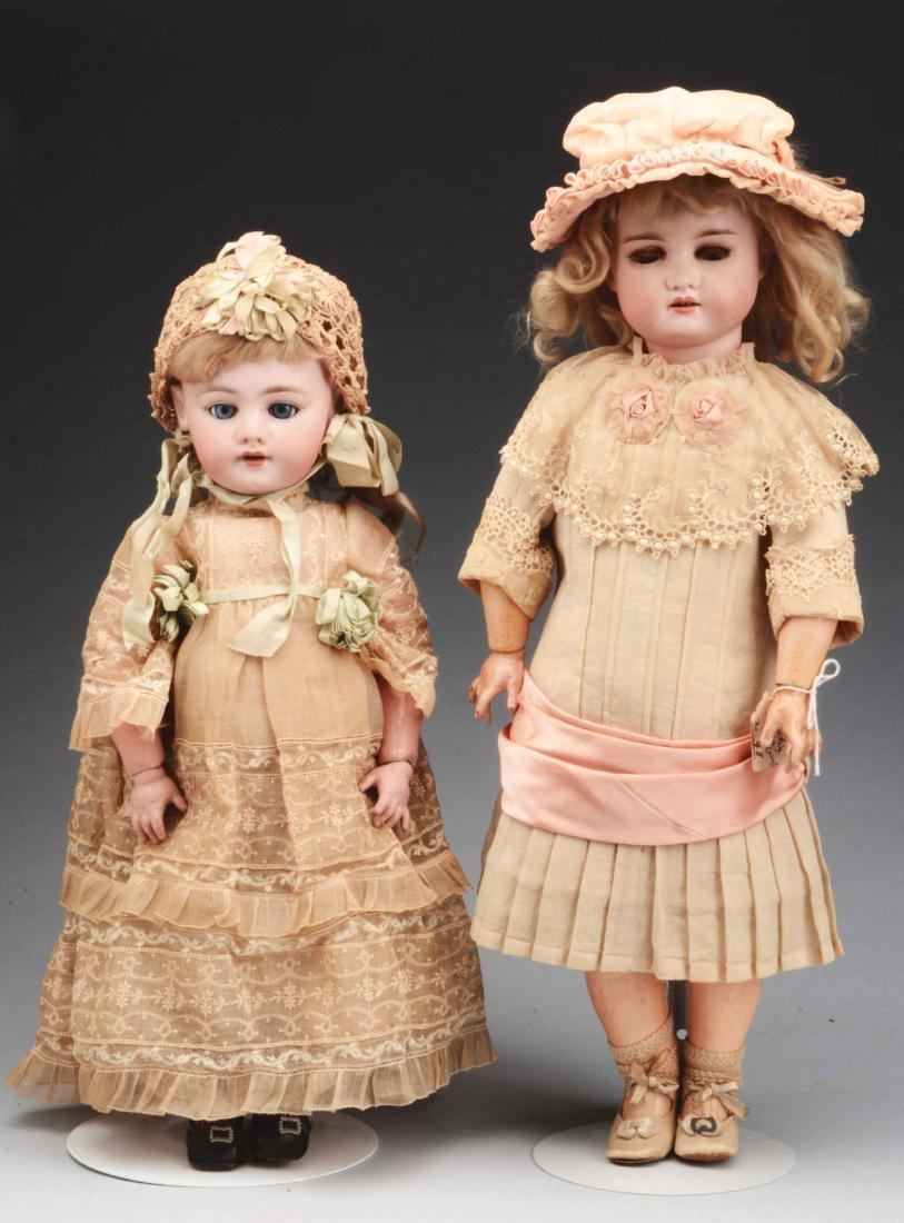 Lot of 2: Bisque Head German Girl Dolls.