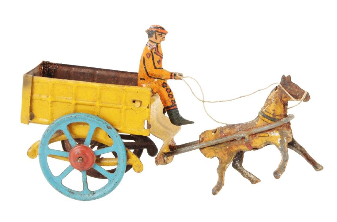 German Tin Litho Horse Drawn Penny Toy.