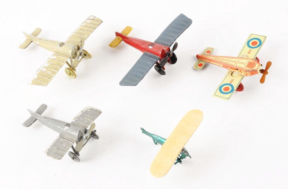 Lot of 5: Penny Toy Size Airplanes.